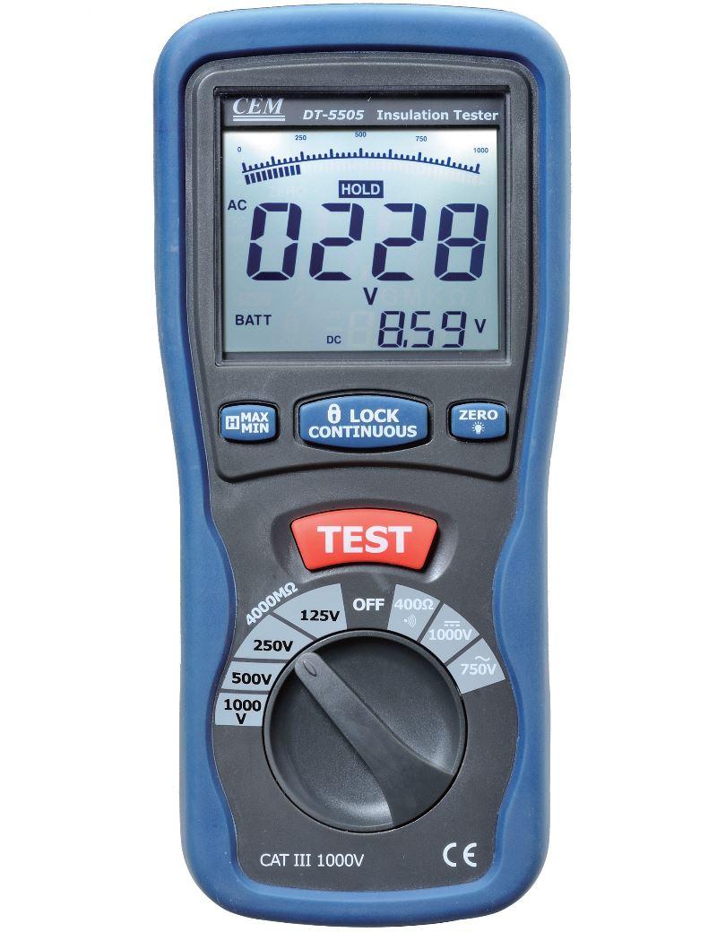 Insulation Resistance Tester Cem Instruments Constant 5kv Dt 5505 Digital